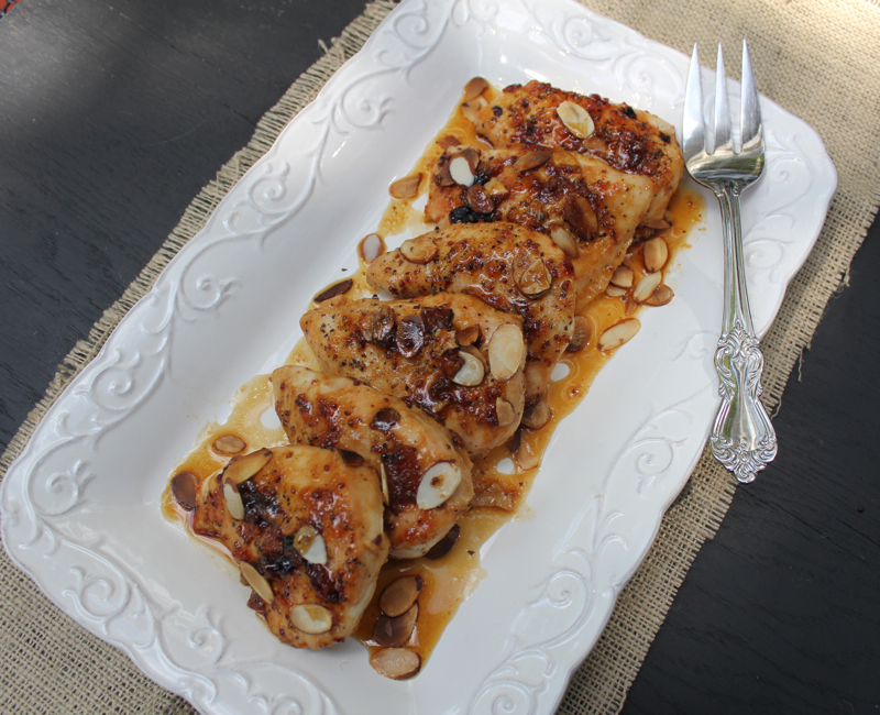 Apricot Chicken with Almonds | Lake Lure Cottage Kitchen