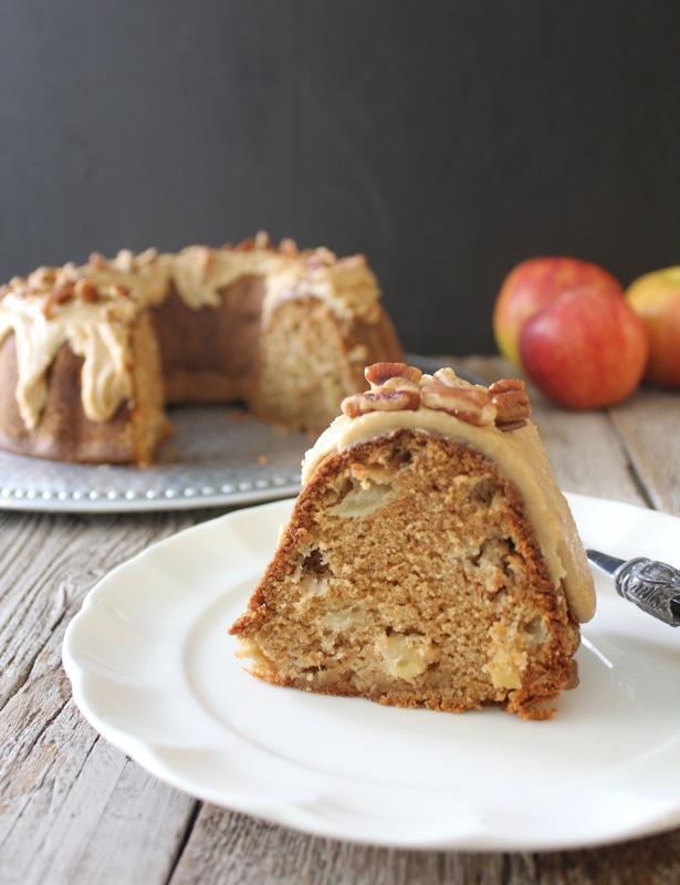 Apple Bundt Cake with Caramel Frosting - Lake Lure Cottage KitchenLake ...