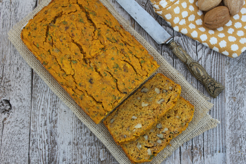 Pumpkin and Cornmeal Quick Bread 1
