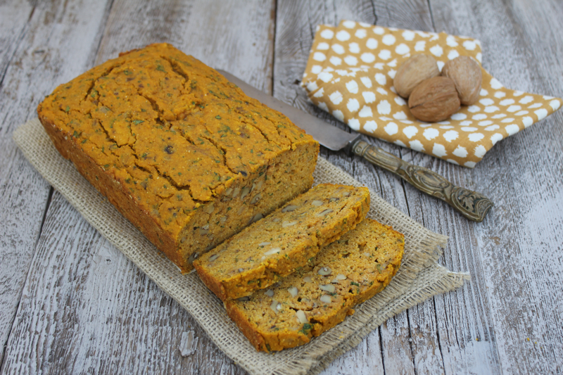Pumpkin and Cornmeal Quick Bread 2