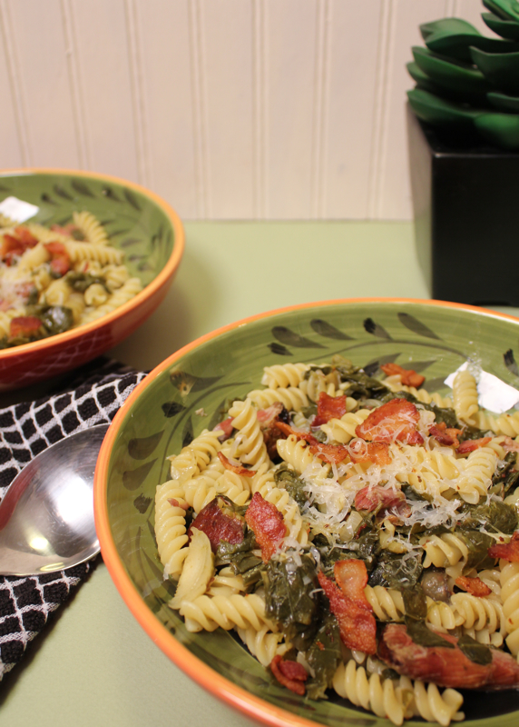 Fusilli with Collards Vertical