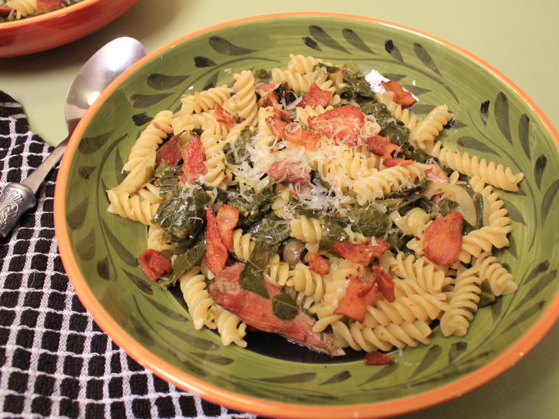 Fusilli with collards S!