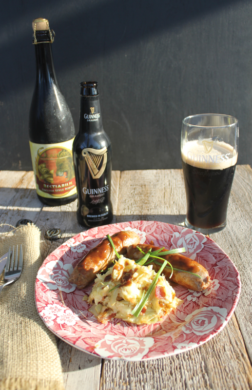 Guiness Sausage and Colcannon 2V