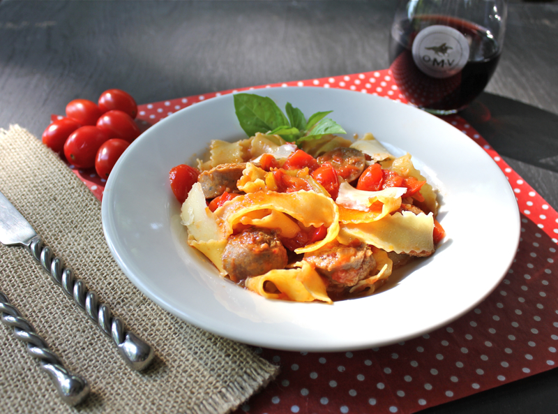 Sausage and Red Pepper Pasta 1