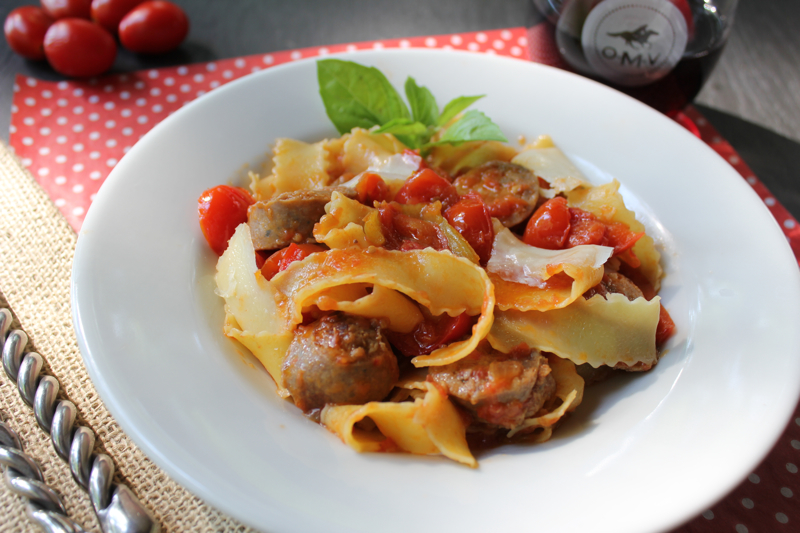 Sausage and Red Pepper Pasta 3