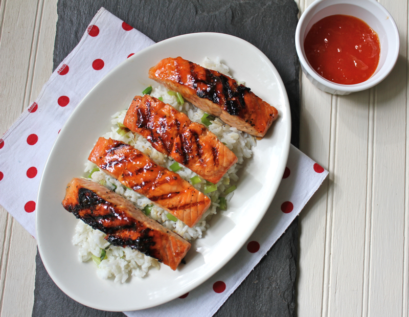 Spicy Glazed Salmon 1