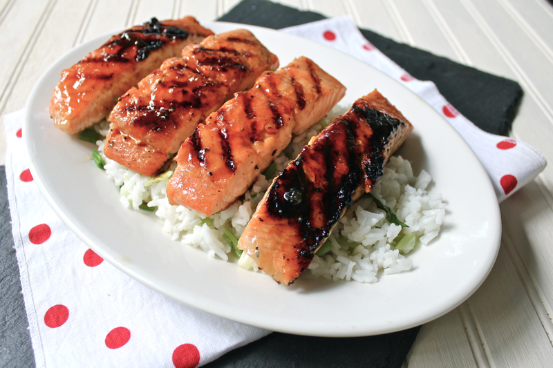 Spicy Glazed Salmon 2