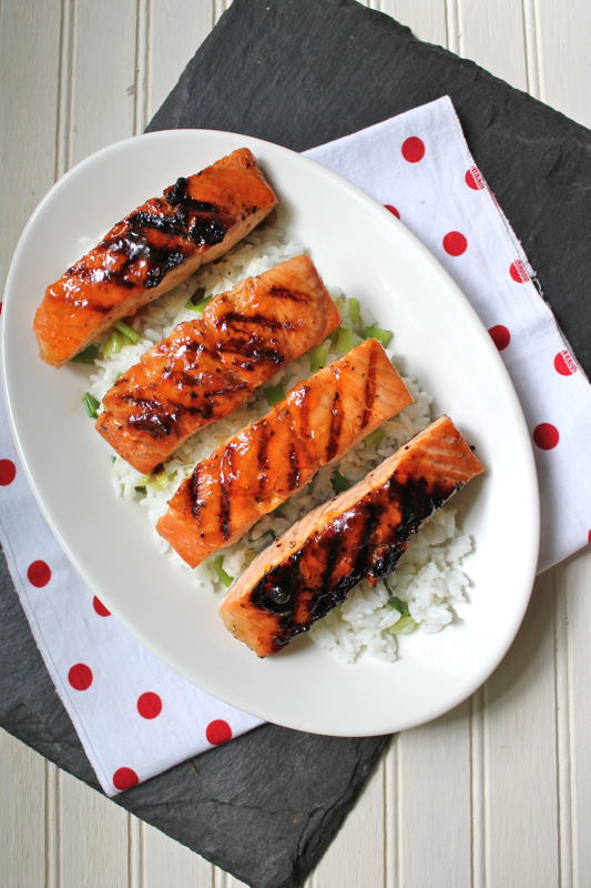 Spicy Glazed Salmon 3V