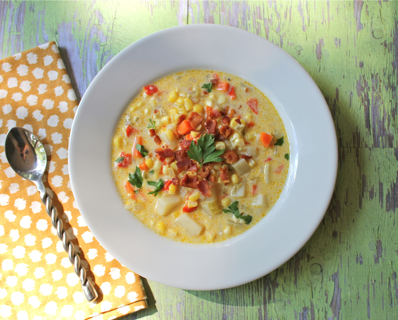 Creamy Corn Chowder with Bacon - Lake Lure Cottage ...