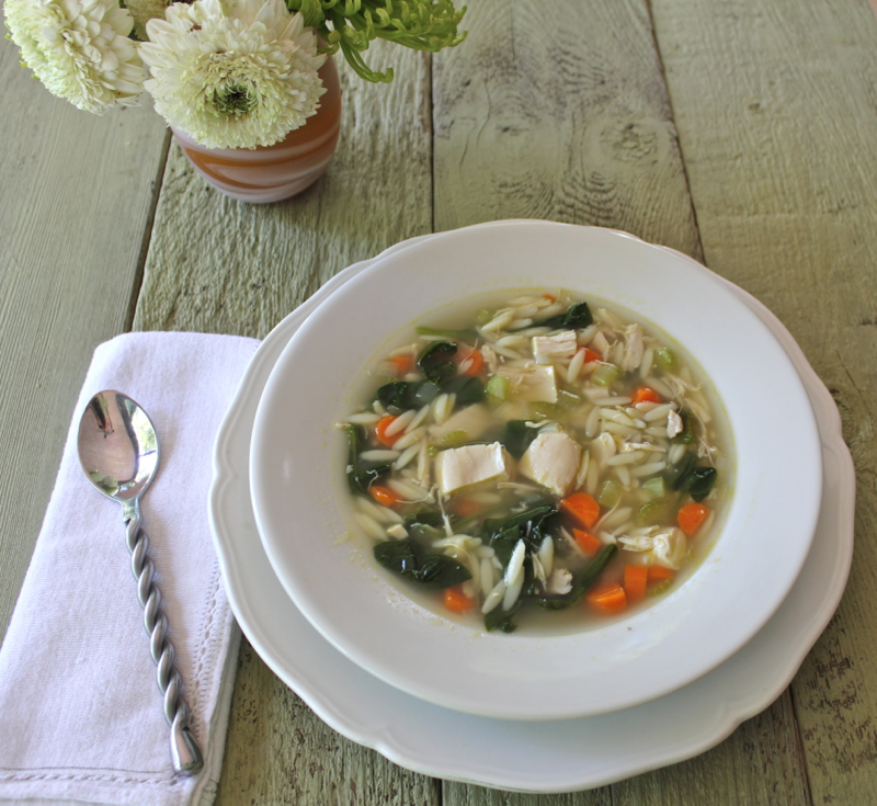 Chicken and orzo Soup 3