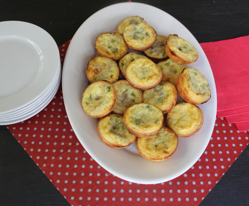 Leek and Pepper Mini quiches 2