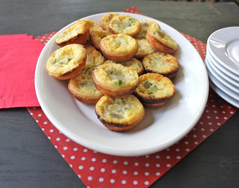 Leek and Pepper mini quiches 1