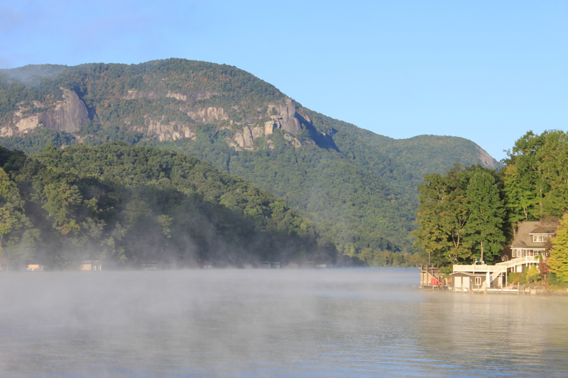 Lake Lure with Chimney Rock
