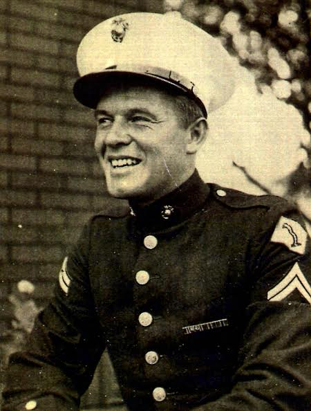 Dad in Marine Uniform