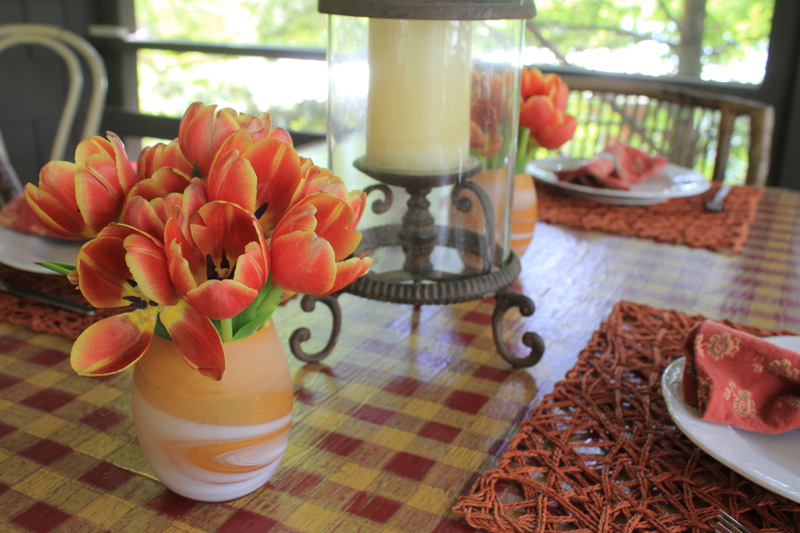 Porch Tulips 1
