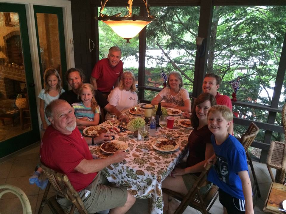 4th of July 2015 dinner on the porch