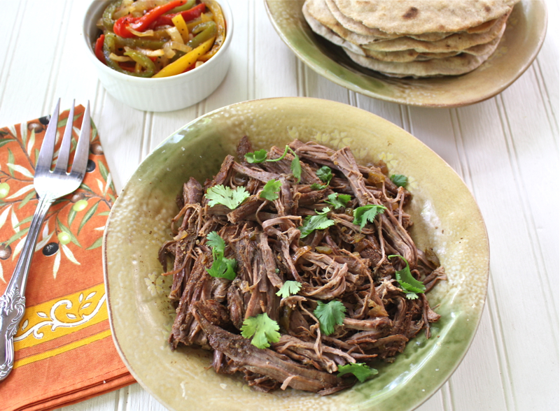 Crock Pot Flank steak Fajitas 1