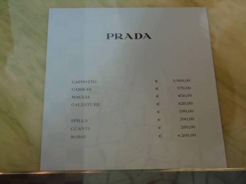 Prada Prices