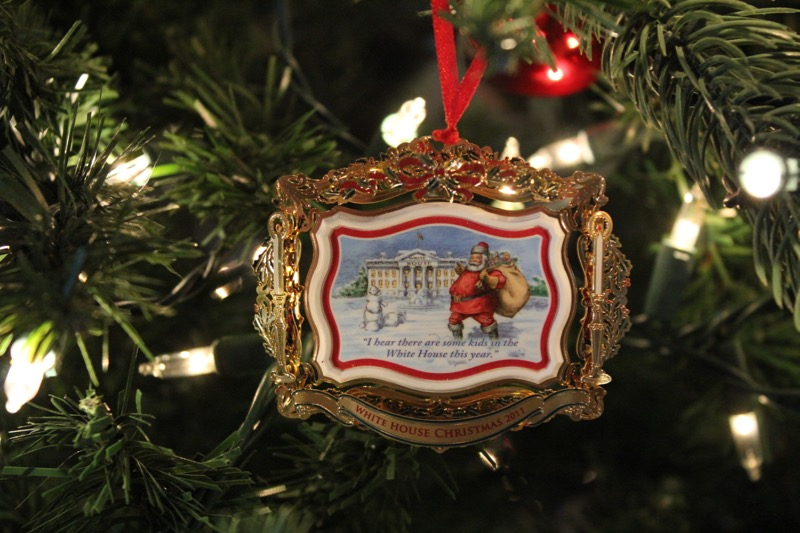 White Houre Ornament Santa