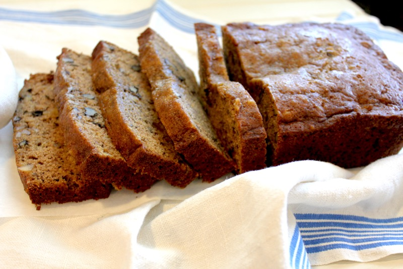 Banana Bread with Walnuts 3 close