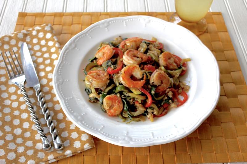 Shrimp Florentine 1