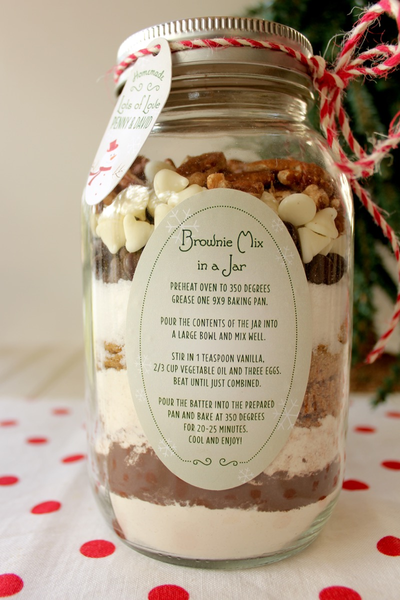 Christmas Brownie Mix In A Jar Lake Lure Cottage