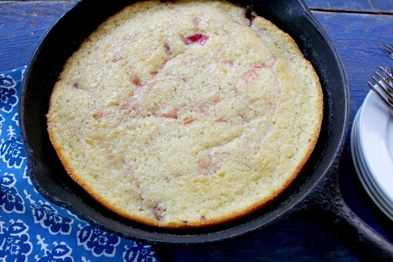 Rhubarb Spoon Cake