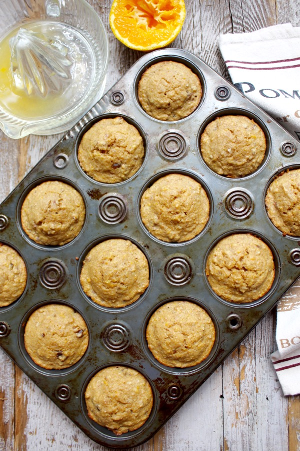 Orange, Date, and Pecan Muffins